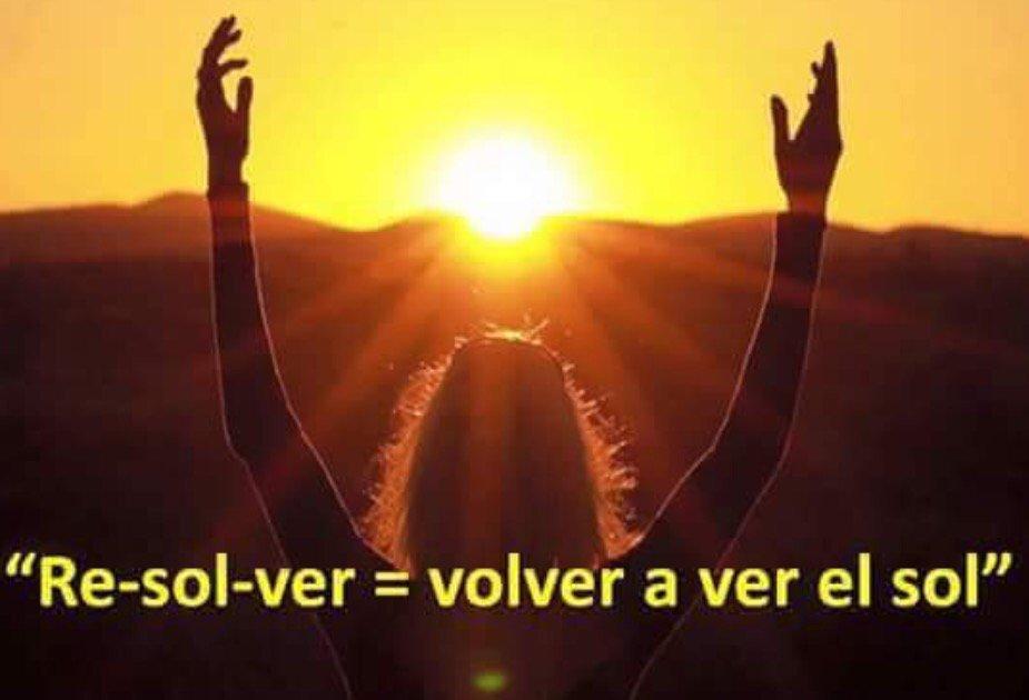 Lucia Celis SoLUZciON resolver, volver a ver el sol.
