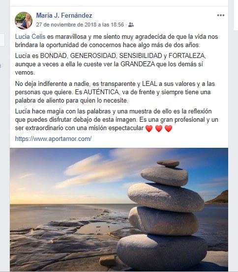 Atrevete a brillar Opinion sobre Lucia Celis MJose Fernandez